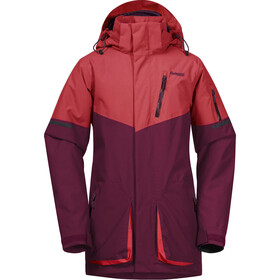 Bergans Knyken Insulated Jacket Youth, beet red/light dahlia red